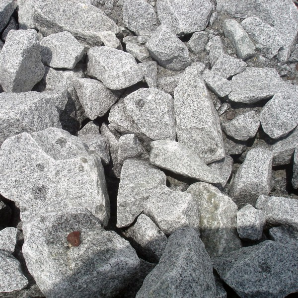 Granit gabionensteine grau 70 200 mm gabionensteine for Anthrazit kieselsteine